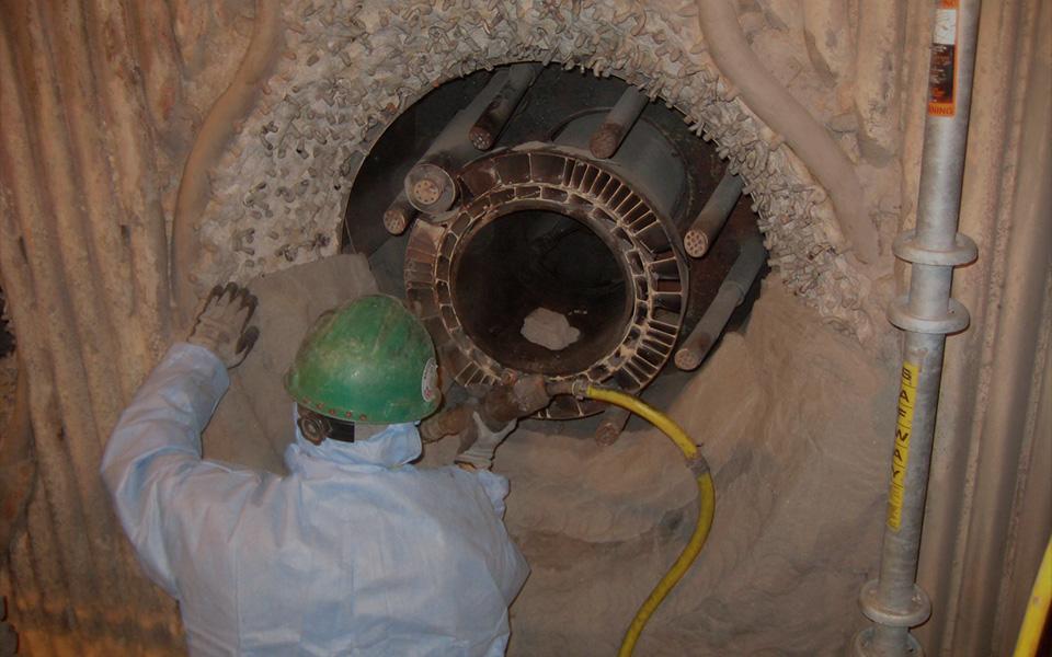 Large Coal Fired Boiler Burner Repair