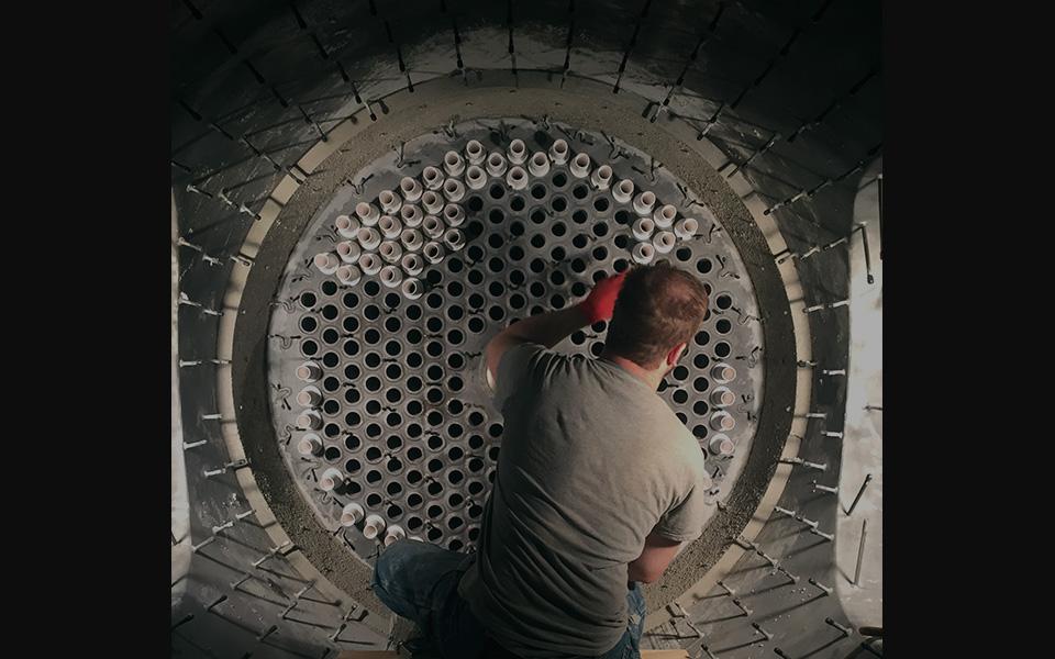 Pharrell Installation on Tube Sheet