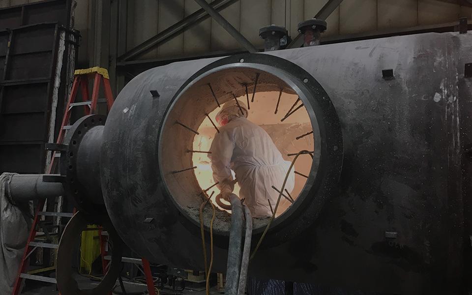 Gunnite Refractory Installation